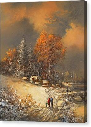 Winter Classic Canvas Print by Tom Shropshire