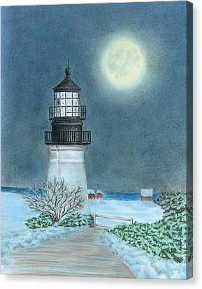 Winter Coast Canvas Print by Troy Levesque