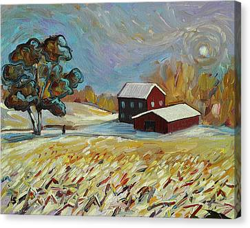 Winter Corn Canvas Print