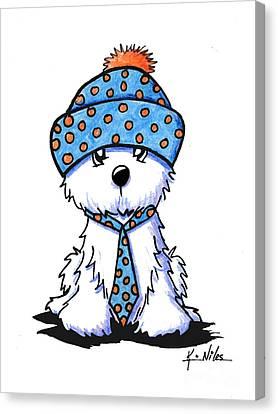Winter Coton In Co-tones Canvas Print by Kim Niles