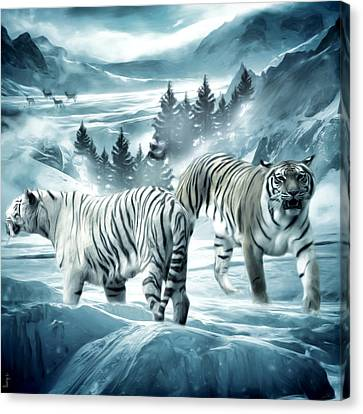 Winter Deuces Canvas Print by Lourry Legarde