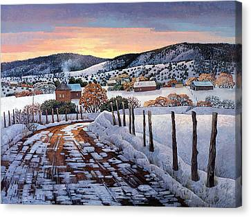 Snow Scene Canvas Print - Winter Dreams by Donna Clair