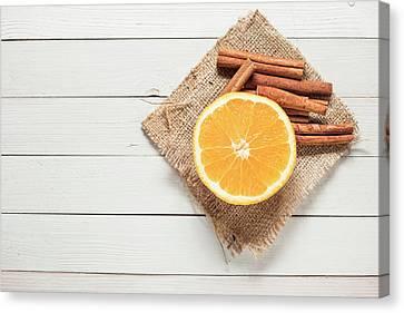 Winter Drink Ingredients Canvas Print by Denes Demeter