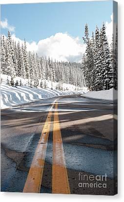 Winter Drive Canvas Print by Juli Scalzi