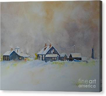 Winter Dungeness Canvas Print by Beatrice Cloake