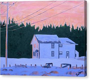 Winter Dusk Canvas Print by Laurie Breton