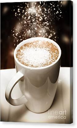 Winter Espresso Coffee Canvas Print