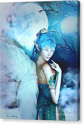 Winter Fairy In The Mist Canvas Print