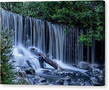 Winter Fall At Crumlin Glen Canvas Print by Alan Campbell
