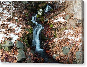 Winter Falls At Franny Reese Canvas Print by Jeff Severson