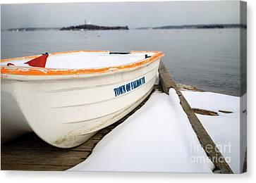 Winter, Falmouth, Maine  -18674 Canvas Print by John Bald