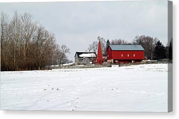 Winter Farm Canvas Print