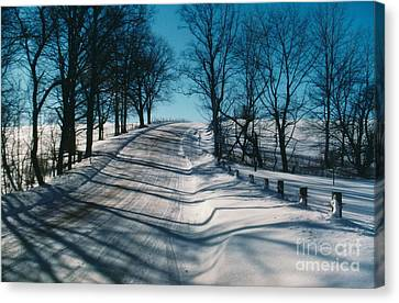 Winter Farmroads Canvas Print