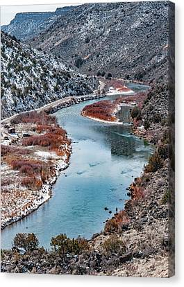 Canvas Print featuring the photograph Winter Fisherman by Britt Runyon