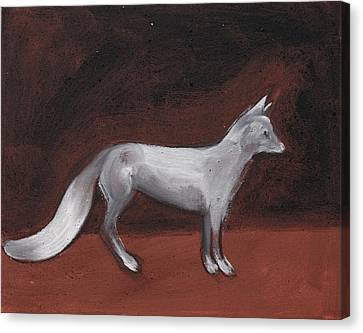 Winter Fox Canvas Print by Sophy White