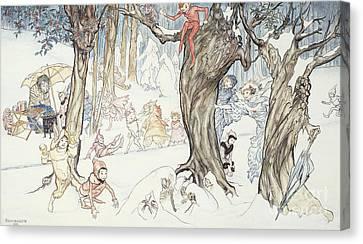 Winter Frolic Canvas Print