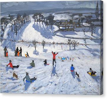 Winter Fun Canvas Print by Andrew Macara