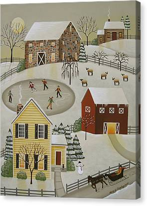 Winter Fun Canvas Print by Mary Charles