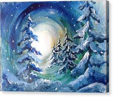 Canvas Print - Winter Glow by Marilyn Jacobson