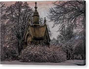 Canvas Print featuring the digital art Winter Gothik by Chris Lord