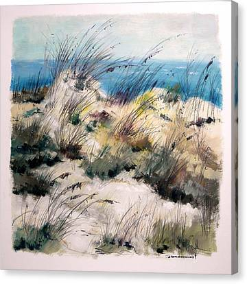 Canvas Print featuring the painting Winter Grasses by John Williams