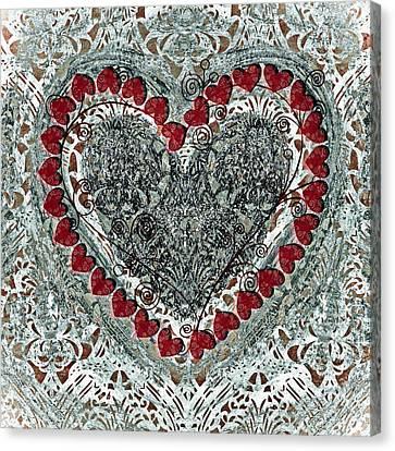 Winter Heart Canvas Print by Frank Tschakert