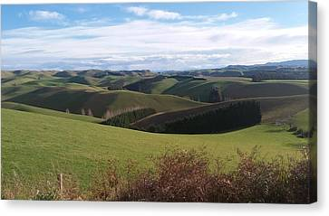Canvas Print featuring the photograph Winter Hills by Nareeta Martin