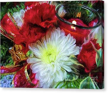 Canvas Print featuring the photograph Winter Holiday  by Peggy Hughes