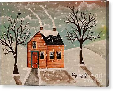 Winter House Canvas Print by Karla Gerard