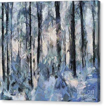 Winter Idyll Canvas Print by Dragica Micki Fortuna