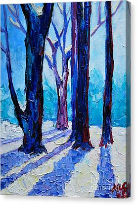 Canvas Print featuring the painting Winter Impression by Ana Maria Edulescu