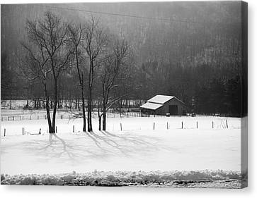Canvas Print featuring the photograph Winter In Boxley Valley by Michael Dougherty