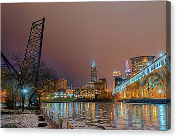 Winter In Cleveland, Ohio  Canvas Print