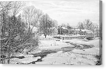 Winter In Exeter, Nh Canvas Print