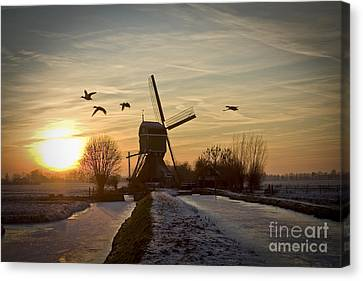 Winter In Holland-2 Canvas Print
