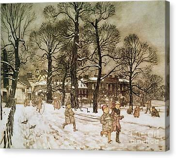 Winter In Kensington Gardens Canvas Print