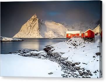 Winter In Lofoten Canvas Print by Alex Conu