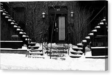 Winter In Montreal Canvas Print by Robert Knight