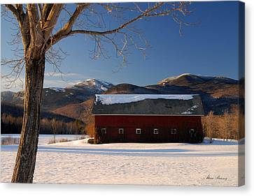 Canvas Print featuring the photograph Winter In New England by Alana Ranney