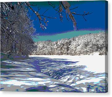 Winter In New England Canvas Print by Dianne Cowen