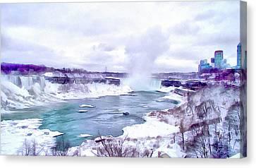 Winter In Niagara 1 Canvas Print