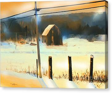 Winter In Powassan Ont. Canvas Print by Bob Salo