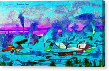 Shore Canvas Print - Winter In Russia - Da by Leonardo Digenio