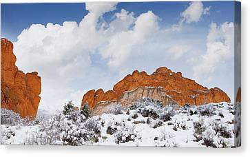Canvas Print featuring the photograph Winter In Spring by Tim Reaves