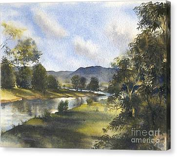 Winter In The Bellinger Valley Canvas Print by Sandra Phryce-Jones