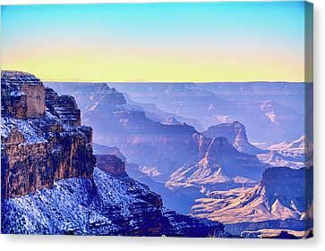 Winter In The Grandest Canyon Canvas Print