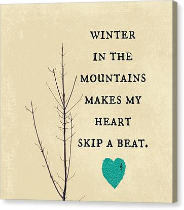 Winter In The Mountains Canvas Print by Brandi Fitzgerald