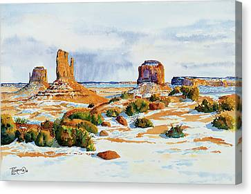 Winter In The Valley Canvas Print by Timithy L Gordon