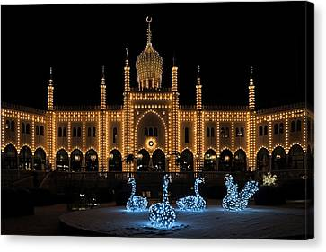 Winter In Tivoli Gardens Canvas Print