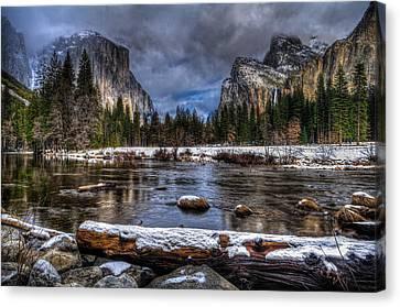 Winter In Yosemite Valley Canvas Print